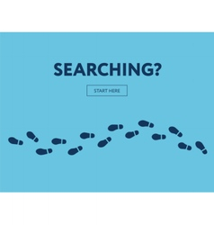 Concept of searching internet banner start here vector