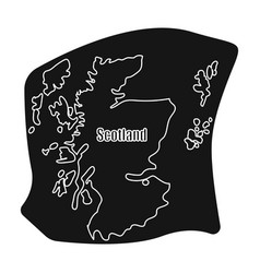 Scotland the mapscotland is a country on the vector