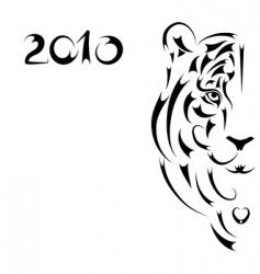 tiger symbol 2010  vector image