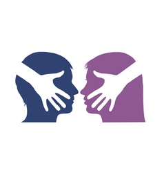 Hand shake between man and woman vector image