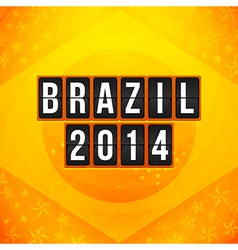 Brazil 2014 football poster bright yellow-orange vector