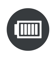 Monochrome round charged battery icon vector
