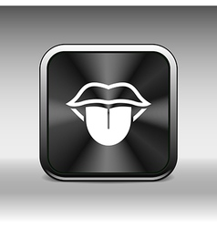 Tongue icon isolated human fun anatomical vector