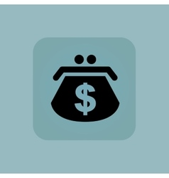 Pale blue dollar purse icon vector