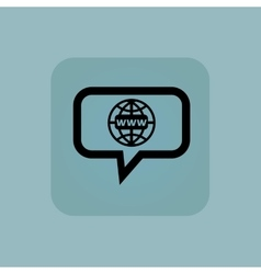 Pale blue global network message vector