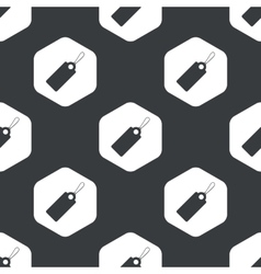 Black hexagon string tag pattern vector