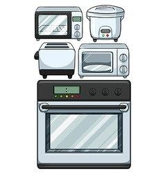 Electronic equipments used in kitchen vector