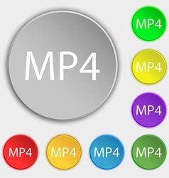 Mpeg4 video format sign icon symbol symbols on vector
