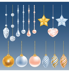 Christmas decor set vector image