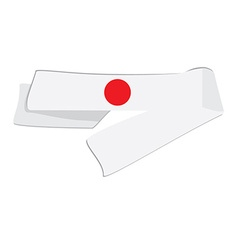 White japanese headband vector
