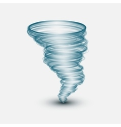 Abstract tornado on isolated background vector