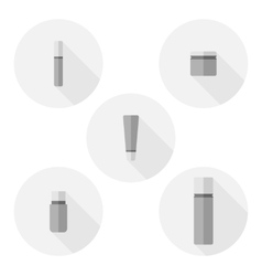 Set of cosmetic bottle icons vector
