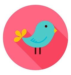 Bird Circle Icon vector image