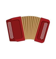 Accordion instrument music sound icon vector