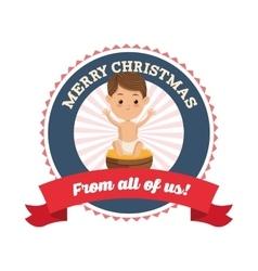 Baby Jesus icon Merry Christmas design vector image vector image