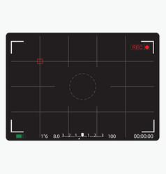 Black camera focusing screen vector