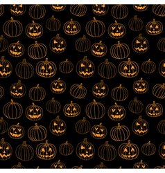 Black halloween print seamless pattern with vector