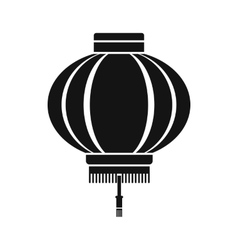 Chinese lantern icon simple style vector
