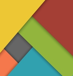 Colorful overlap layer material design background vector image vector image