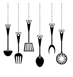 contour kitchen utensils icon image vector image vector image