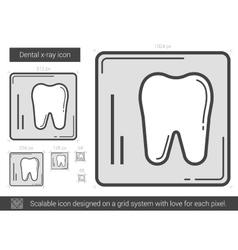 Dental x-ray line icon vector