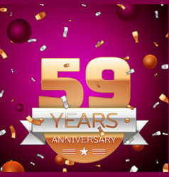 Fifty nine years anniversary celebration design vector