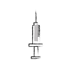 figure syringe medical tool to treatment injection vector image