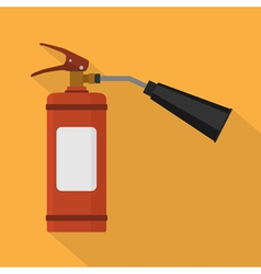 flat fire extinguisher vector image vector image