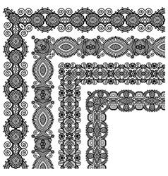floral vintage frame design vector image