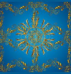 Geometric background golden seamless pattern on vector