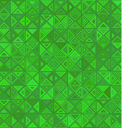 Green color abstract triangle mosaic background vector