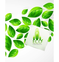 nature green leaf background vector image vector image