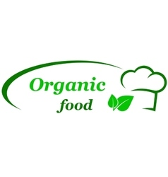 Organic food sign vector