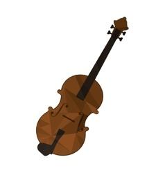 polygon texture violin icon vector image vector image