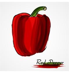 Red pepper vector