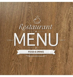 Retro wood restaurant menu design vector