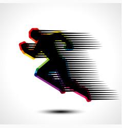 running man icon vector image