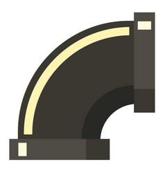 Sewage pipe icon flat style vector