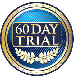 Sixty da trial icon vector