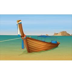 Thai beach vector image vector image