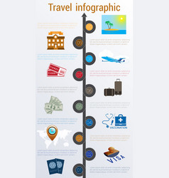 Travel infographic numbered 10 positions vector