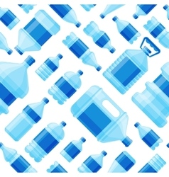 Water bottle seamless pattern vector