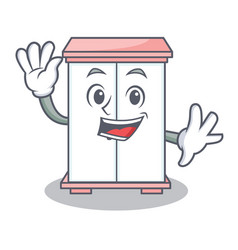 Waving cabinet character cartoon style vector