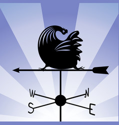 Weathervane - running rooster 5 vector