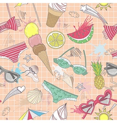 Cute summer abstract seamless pattern vector