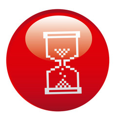 red hourglass emblem icon vector image