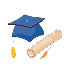 The graduation item vector image