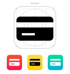 Magnetic tape credit card icon vector