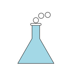 chemistry flask isolated vector image