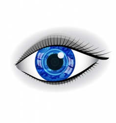 Abstract eye vector